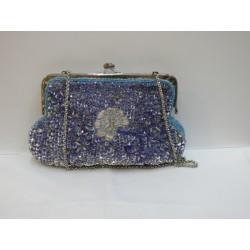 Bolso azul bordado